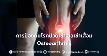 การป้องกันโรคปวดเข่า ข้อเข่าเสื่อม Osteoarthritis