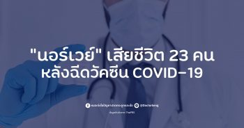 นอร์เวย์ เสียชีวิต 23 ราย หลังฉีดวัคซีน COVID-19